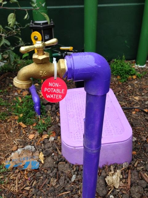 non-potable label faucet